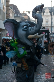 Cortege Basel 2012 - Tambourmajor - Elefant