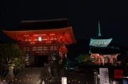 Japan 2012 - Kyoto - Kiyomizu-dera - Gate & Pagoda by night