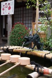 Japan 2012 - Kyoto - Teramachi - Nishiki Tenman-gu - Cleaning fountain