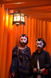 Japan 2012 - Kyoto - Fushimi Inari Taisha - Guests & Masks