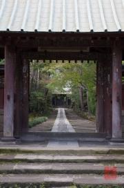 Japan 2012 - Kamakura - Jufuku-ji Temple - Entrance Gate - Path