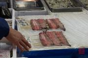 Japan 2012 - Tsukiji - Fish Market - Fish filets on a stick