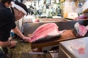 Japan 2012 - Tsukiji - Fish Market - Tuna Processing