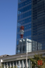 Japan 2012 - Tsukiji - Radio Tower Mirroring