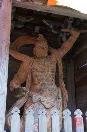 Japan 2012 - Miyajima - Daisho-in - Fighter Sculpture