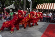Taiwan 2012 - Taipei - Lin-Namens-Fest - Löwentanz - Impression II