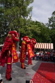 Taiwan 2012 - Taipei - Lin-Namens-Fest - Löwentanz - Impression IV