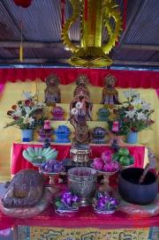 Taiwan 2012 - Taipei - Longshan Tempel - Tempelfest - Alter I