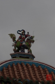 Taiwan 2012 - Taipei - Longshan Tempel - Dachrelief - Löwe grün