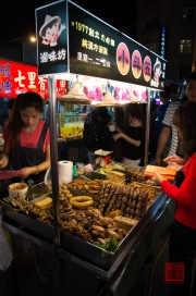 Taiwan 2012 - Taipei - Shilin Nachtmarkt - Garstand - Hühnchen