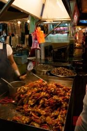 Taiwan 2012 - Taipei - St. Raohe Nachtmarkt - Krabben