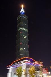 Taiwan 2012 - Taipei - Xinyi by Night - Impressionen XI