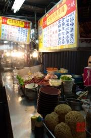 Taiwan 2012 - Taipei - Ningxia Nachtmarkt - Nudelkörbe
