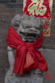 Pingyao 2013 - Hotel Lion Sculpture
