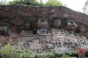 Baodingshan 2013 - Mahasthamaprata (l.) & Amitayus (r.)