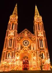 Nimes 2014 - Eglise Saint Baudile - Lights