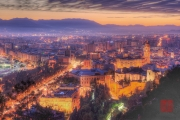 Malaga 2015 - Castle of Malaga by Night