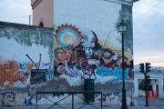 Granada 2015 - Graffiti - Man playing violin