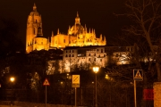 Segovia 2014 - Cathedral close-up by Night