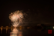 Nuremberg Spring Fair Fireworks 2015 - Gold & White