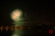 Nuremberg Spring Fair Fireworks 2015 - Gold & Green
