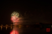Nuremberg Spring Fair Fireworks 2015 - Green & Red