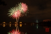 Volksfest 2015 - Opening Fireworks - Red & Green