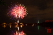 Volksfest 2015 - Opening Fireworks - Blue & Red & Green