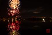 Volksfest 2015 - Final Fireworks - Silver & Blue & Red