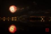 Volksfest 2015 - Final Fireworks - Red & Silver