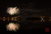 Volksfest 2015 - Final Fireworks - Silver & Green