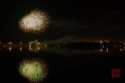 Volksfest 2015 - Final Fireworks - Silver & Green & Gold