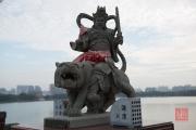Taiwan 2015 - Kaohsiung - Sculpture - Warrior on Lion