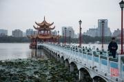 Taiwan 2015 - Kaohsiung - Men on Bridge