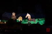Blaue Nacht 2016 - Wahnheit - Human Horse, Kid in Costume, Egg
