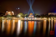 Hanoi 2016 - Turtle Pagoda by night I